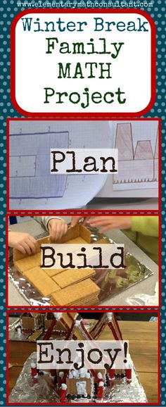 Make the most of your kids' holiday break! This gingerbread house building project gets kids thinking! They use multiplication, area, perimeter, and design skills to plan, draw, and build an amazing gingerbread house. It's a super fun activity for winter break! http://www.elementarymathconsultant.com/math-project-great-gingerbread-house-project/