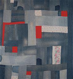 denim patchwork