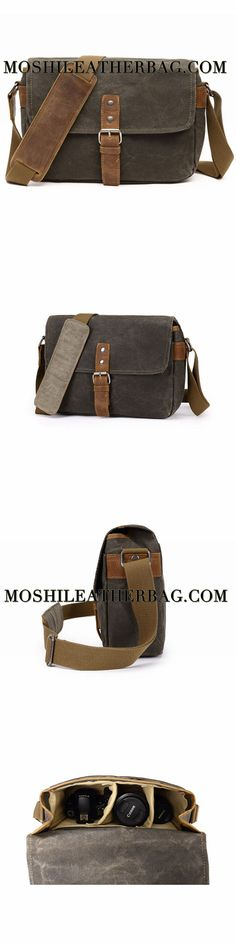 Waterproof Waxed Canvas Camera Bag, Small Camera Bag, Shoulder Bag FX8816
