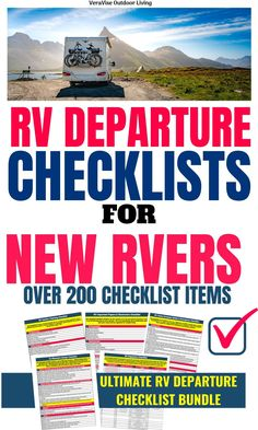 RV Departure Checklists- Stress Free Dewinterizing For Your Camper Rv Camping Tips, Camping List, Camping Storage, Rv Storage, Camping Stuff, Camping Ideas, Storage Ideas, Rv Trip Planner, Rv Tires