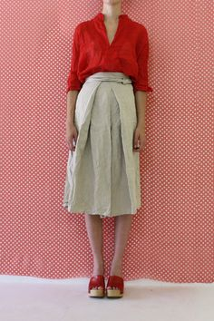 Daniela Gregis washed kan skirt