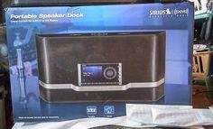 SIRIUSXM SATELLITE RADIO PORTABLE SPEAKER DOCK ACCESSORY MODEL SXABB1 #SiriusXMRadio
