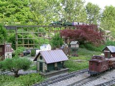 Would love a train garden for my sons!