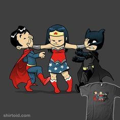 Wonder Woman does NOT like when her boys aren't getting along!