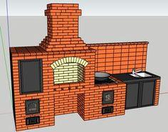 Bbq Kitchen, Backyard Kitchen, Backyard Bbq, Brick Grill, Barbecue Garden, Smoke Bbq, Backyard Patio Designs, Brick Design, Dream House Plans