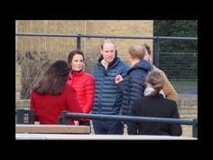 The Duke and Duchess of Cambridge and Prince Harry filming for a new BBC...
