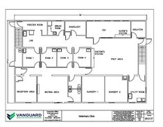 small veterinary hospital plans | 47' x 76' Modular veterinary clinic with 4 exam rooms, 2 surgery rooms ...