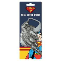 Bottles are tough to open! Ask Superman to use his super strength and do it for you with this Superman In Flight Metal Bottle Opener. It looks just like Supes is flying off into action! Superman, Batman, Drink Dispenser, Man Of Steel, Toys For Girls, Dc Comics, Entertaining, Superhero, Metal