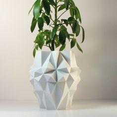 3D imprimés géométriques planteurblanc grande par MeshCloud sur Etsy  http://www.lifestyl3d.com/selection-shopping-deco-3d-printed-focus-designers-phares-detsy/