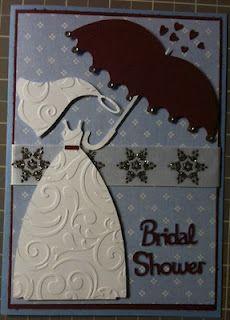 Bridal shower card using Sweethearts cartridge