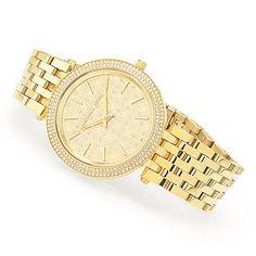 2d3dc052ecd Michael Kors Women's Darci Quartz Crystal Accented Stainless Steel Bracelet  Watch