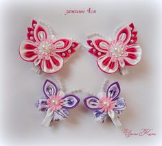 Одноклассники Foam Crafts, Diy Crafts, Ribbon Projects, Ribbon Art, Baby Girl Headbands, Ribbon Embroidery, Fabric Flowers, Easter Eggs, Hair Bows