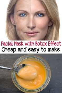 Facial mask with Botox effect. Cheap and easy to make
