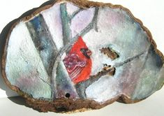 Painted Cardinal with Birch Trees Bracket Fungus Art by JewelsofEarth on Etsy Feather Painting, Tole Painting, Painting Frames, Painting On Wood, Wood Paintings, Mushroom Crafts, Mushroom Art, Birch Trees, Christmas Wood