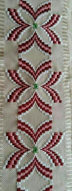 Discover thousands of images about Resultado de imagen para rose au bargello avec bordure ouvrageé Bargello Needlepoint, Bargello Quilts, Broderie Bargello, Bargello Patterns, Needlepoint Stitches, Swedish Embroidery, Hardanger Embroidery, Hand Embroidery Stitches, Cross Stitch Embroidery