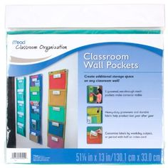 Amazon.com : Mead Classroom Wall Pockets, Blue (72338) : Teachers Calendars And Planners : Office Products