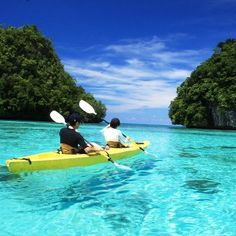 This is Palau, my husband Andy's home country! I had always wanted to Kayak...it was a dream of mine to do this.  This place looks so much like the place my sweet hubby  took me just after he ask me to marry him!  He said he was afraid he would loose the ring in the water if he waited until our kayaking trip.  It was an amazingly beautiful day!  Go Andy!  Love you!  You did a wonderful job that day surprising me! And yes I still love visiting Palau almost every summer...it NEVER gets old to…