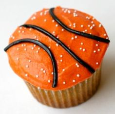 basketball cupcakes for March Madness! Perfect for hosting a NCAA themed party… Basketball Cupcakes, Basketball Party, Basketball Birthday, College Basketball, Basketball Gifts, Basketball Season, Sports Party, Kids Sports, Basketball Shoes