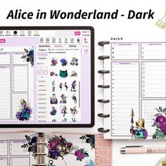 The Alice in Wonderland Collection is up 💜🖤💖 Swipe left for all Recipe Codes 💫 The Planners might load slower than usual due to their big image sizes 💫 Feel free to use them Commercially as well if you're a seller 🥰 . . For more please check out the link in the bio ⬆ #Regram via @CTbkhRNAmJ0 Planner Layout, Monthly Planner, Allrecipes, Alice In Wonderland, Planners, September, The Creator, Coding, Big