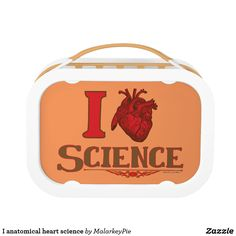 I anatomical heart science lunch box