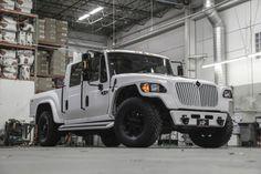 Matte White Custom International MXT Build » Automotive Concepts. Now that's a truck!