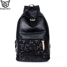 BAIYI Lady Girl Fashion Schoolbag Travel Backpack Backpack Women Large Capacity Canvas Shoulder Schoolbags