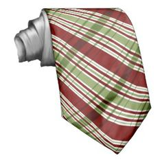 Christmas Ties For Men Red And Green Plaid