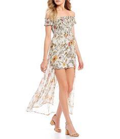 101a5774161 Coco + Jaimeson Smocked Floral-Print Maxi Romper