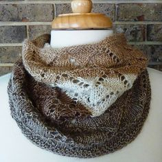 SknitsB Canadian Summer Lace Cowl Knitting Pattern