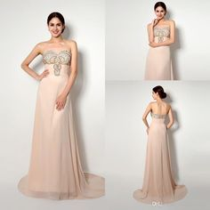 2015 Elegant Real Pictures In Stock Prom Party Dresses Sweetheart Neck Floor-length Beaded Pleats Chiffon Formal Evening Dresses from Weddingpalace,$66.18 | DHgate.com