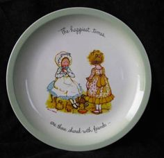 Holly Hobbie Collector Plate Happiest by TwoCousinsCollection