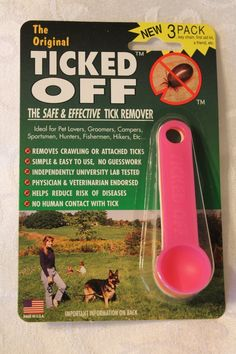 The Original Ticked Off Tick Remover Three (3) Pack  with Key Hole family Colors May Vary ** Find out more details by clicking the image : Flea and Tick Control