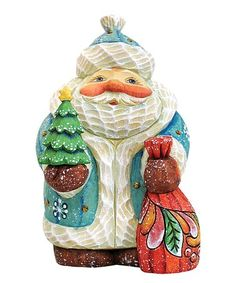 The Holiday Aisle Fifield Holiday Tree Santa Figurine Gift Giver Christmas Tree And Santa, Holiday Tree, Christmas Time, Christmas Ornaments, Father Christmas, Pre Lit Wreath, Santa Figurines, Santa Claus Is Coming To Town, Santa Gifts