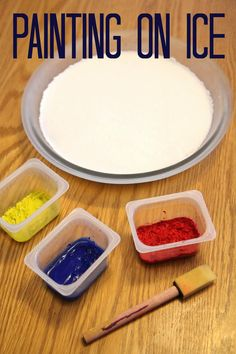 This would be great for A- Arctic or I - Ice Toddler Approved!: Painting on Ice
