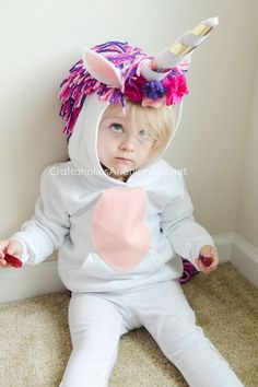 Unicorn power! Love this pattern, and idea for a halloween costume. Best halloween crafts for sure!