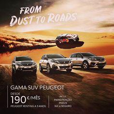 Desde la arena a tu plaza de garaje pasando por @aupasapeugeot llévate un #SUV #Peugeot desde 190 al mes. A que esperas consúltanos...