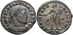 Æ follis. Treveri, ca. Good VF, brown patina with underlying silvering. Roman, Coins, Ads
