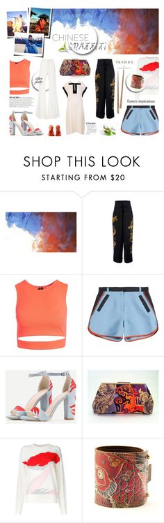 """Chinese Graffiti"" by hellamela ❤ liked on Polyvore featuring Ms Min, Sans Souci, Vivienne Tam, Ostwald Helgason, afterparty and summertofall"