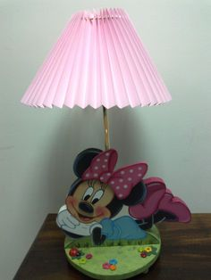 Lámpara MInnie Nativity, Childrens Rooms, Art Deco, Table Lamp, Wood, Home Decor, Layette, Woodworking, Party