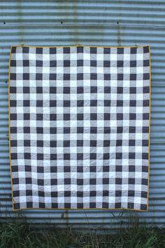 grey gingham patchwork by CB Handmade