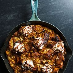 Warm up with this butternut squash bread pudding.