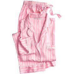 The Afterhours Satin Pajama ($67) ❤ liked on Polyvore featuring intimates, sleepwear, pajamas, victoria secret sleepwear, victoria secret pjs, satin pjs, victoria's secret and satin sleepwear