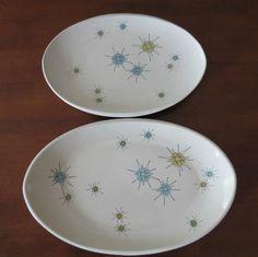 Franciscan Starburst China Platters Atomic Mid-Century Dinnerware