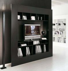 Window TV Schrank schwarz - Design mit Köpfchen