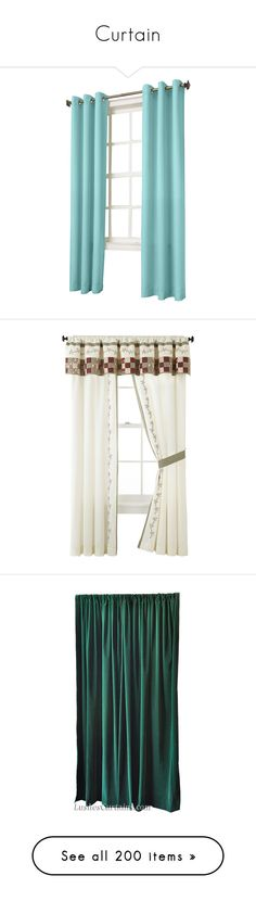 """""""Curtain"""" by selene-cinzia ❤ liked on Polyvore featuring home, home decor, window treatments, curtains, windows, appliances, curtain, turquoise, blue grommet curtains and blue window curtains"""