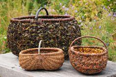Hjørnholms Pileblog: Barkkurve / Baskets with willowbark