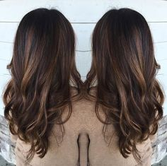 Warm brown hair with balayage
