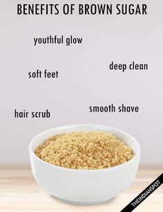 BEAUTY TIPS USING BROWN SUGAR FOR HEALTHY SKIN AND HAIR