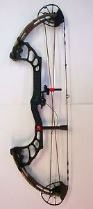 "PSE X-Force Omen Pro Compound Bow - 30"", 70#, LEFT Hand, Black W/ IF Limbs, Rest"
