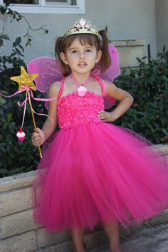 Dress like Pinkalicious - fairy wings and pink